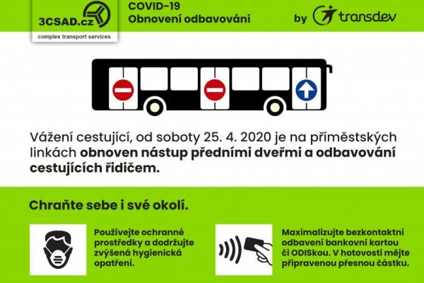 Nástup předními dveřmi do autobusů