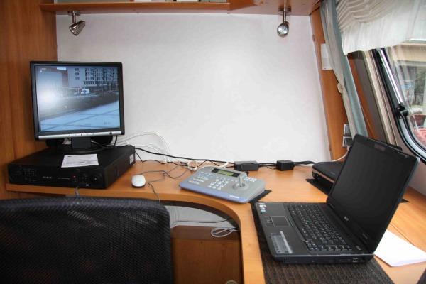 funkční kancelář v mobilní služebně