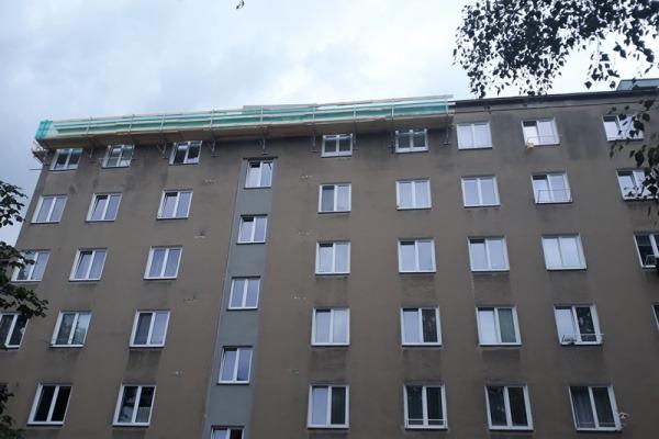 Oprava střechy Dlouhá třída