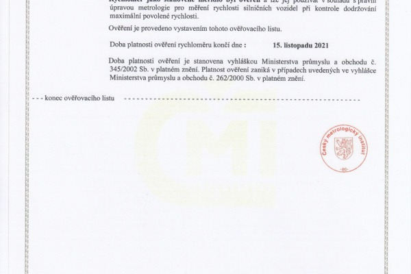 Ověřovací list pro ul. Ostravská (str.2)