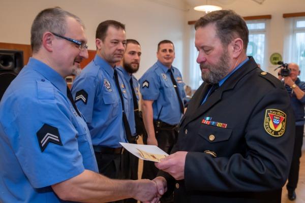 Oceňování strážníků za věrnost - 10 let u MP Havířov