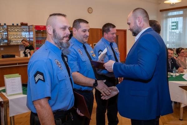 Oceňování strážníků za věrnost - 20 let u MP Havířov