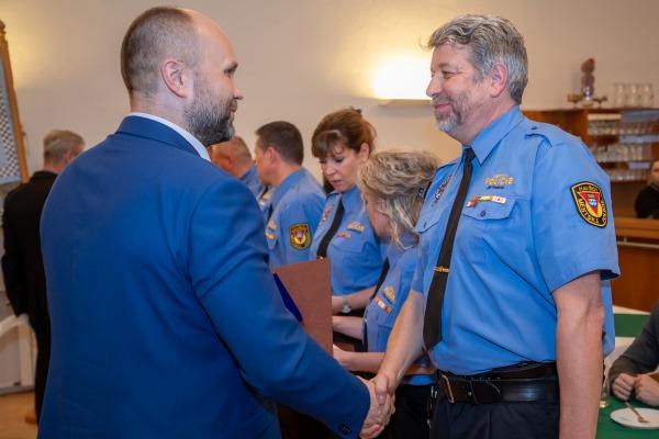 Oceňování strážníků za věrnost - 25 let u MP Havířov