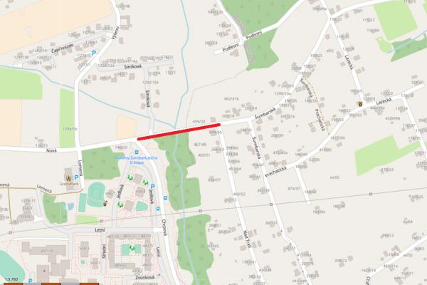 Mapa dopravního omezení