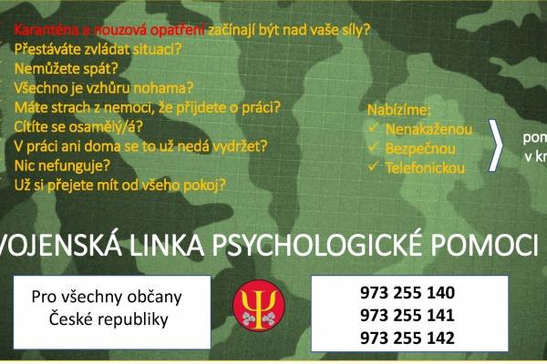 Vojenská linka psychologické pomoci pro veřejnost