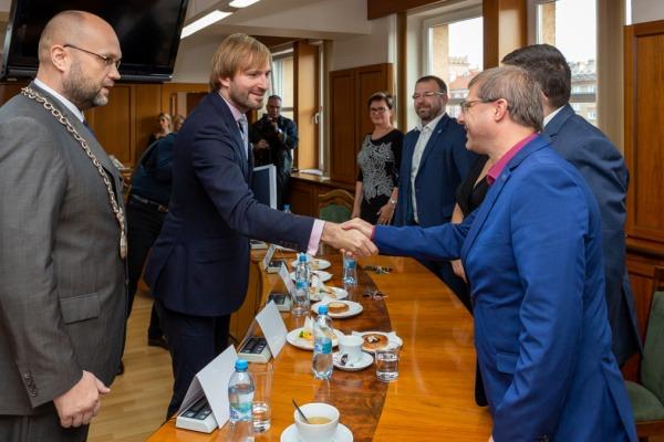 Návštěva ministra zdravotnictví ČR Adama Vojtěcha v Havířově
