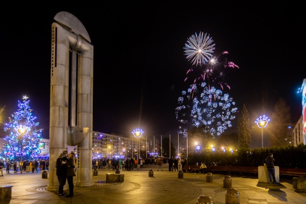 Silvestrovsko-novoroční ohňostroj v Havířově