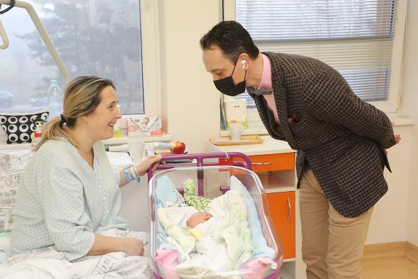 Prvním havířovským miminkem roku 2021 je holčička Karin